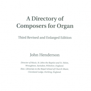 A Directory of Composers for Organ