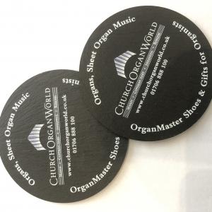 ChurchOrganWorld Welsh Blue Grey Slate Coasters (1 pair)